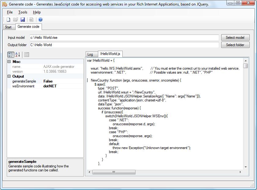 Windows 7 RISE AJAX code generator 4.4 full