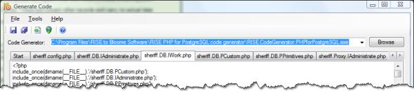 Generating code inside RISE